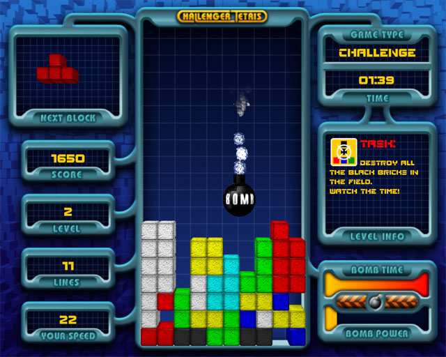 Challenger Tetris Screenshot