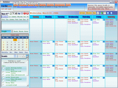 Mediabee Family Dashboard Screenshot