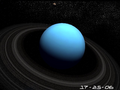 Planet Uranus 3D Screensaver 1