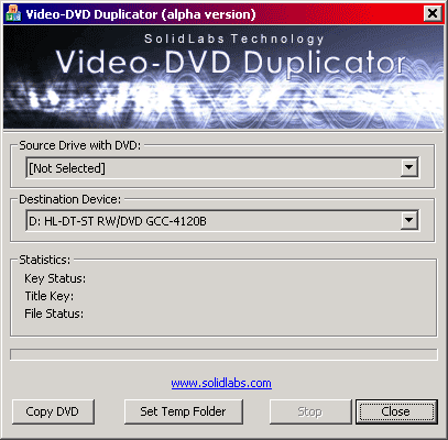 Video DVD Duplicator Screenshot