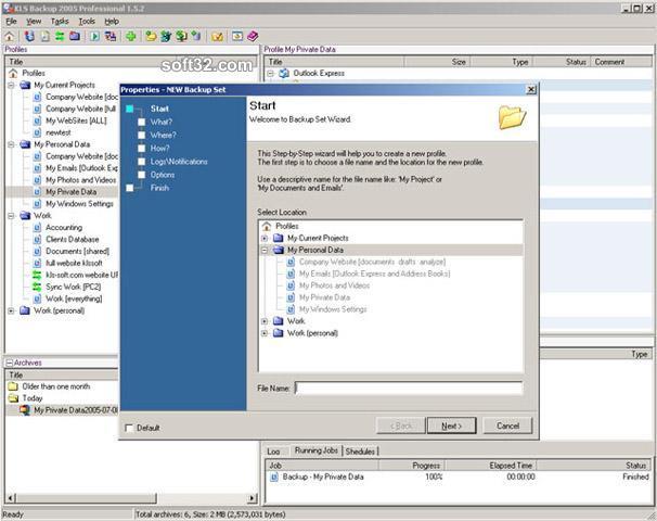 KLS Backup 2009 Professional Screenshot 3