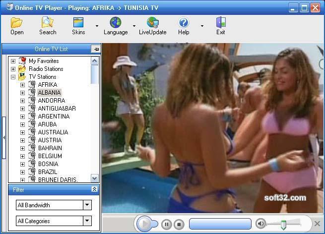 Online TV Player Screenshot 3