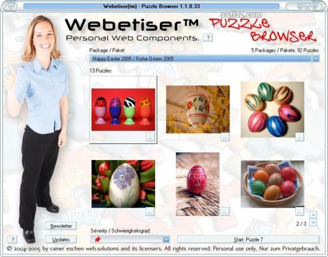 Webetiser(tm) Puzzle - Easter Package Screenshot