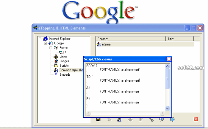 HTML Elements Screenshot