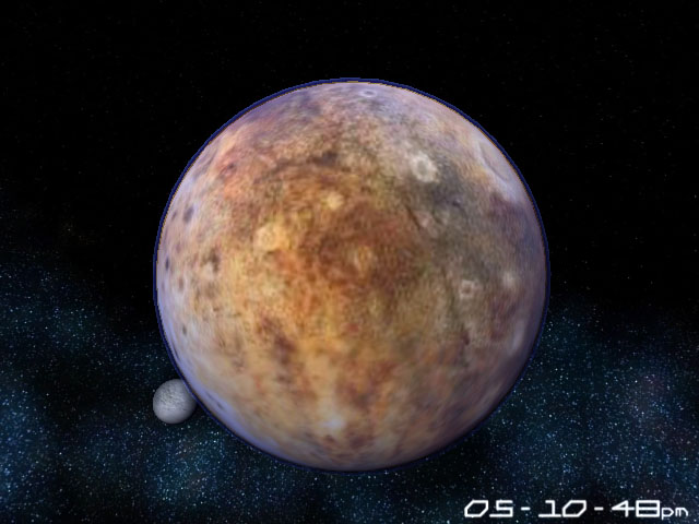 Planet Pluto 3D Screensaver Screenshot 1