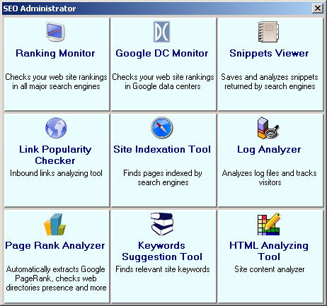 SEO Administrator Screenshot