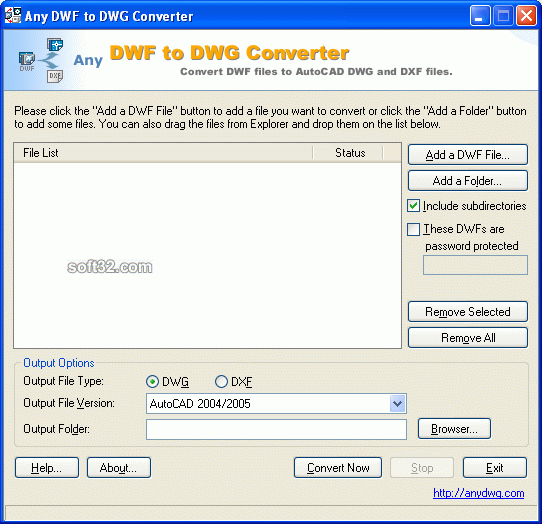 Any DWF to DWG Converter Screenshot 3