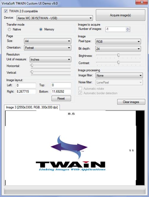 VintaSoftTwain.NET SDK Screenshot 2