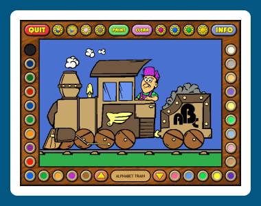 Coloring Book 5: Alphabet Train Screenshot 3
