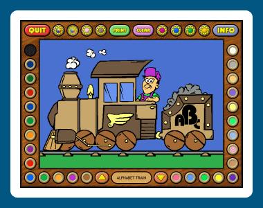 Coloring Book 5: Alphabet Train Screenshot