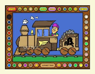 Coloring Book 5: Alphabet Train Screenshot 2