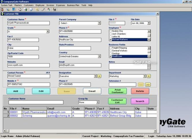 CompanyGate Screenshot 2