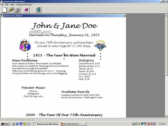Anniversary Bios Screenshot 2