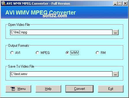 AVI WMV MPEG Converter Screenshot 2