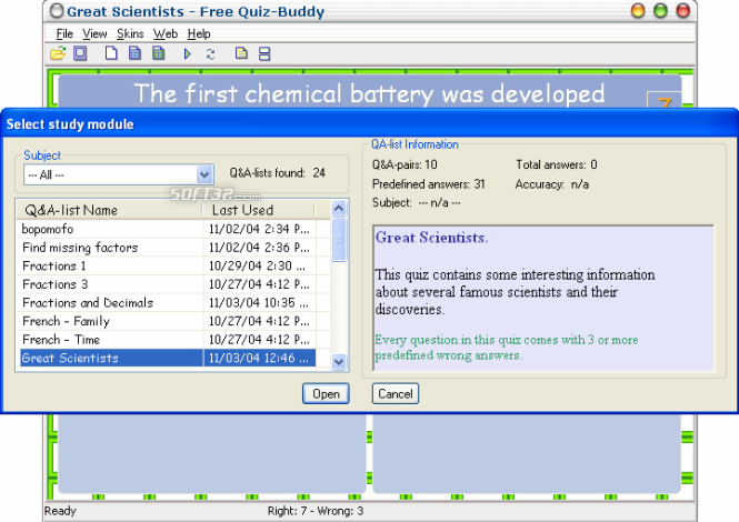 Free Quiz-Buddy Screenshot 2