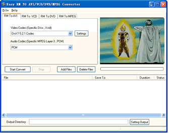 Easy AVI/VCD/DVD/MPEG Converter Screenshot