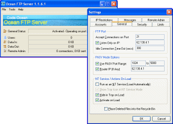 Ocean FTP Server Screenshot