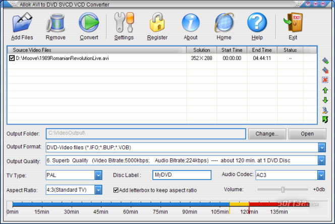 Allok AVI to DVD SVCD VCD Converter Screenshot 4