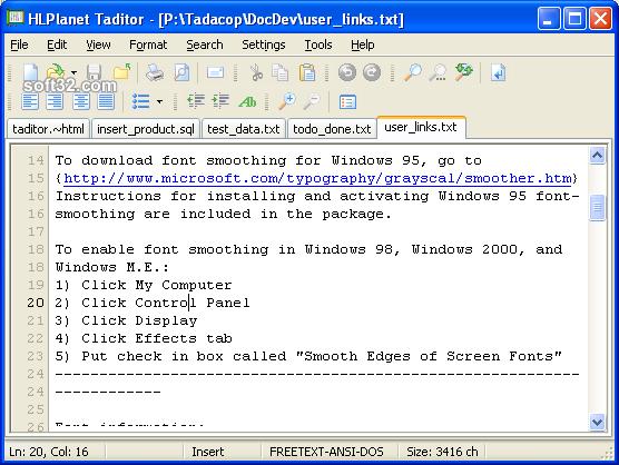 Taditor Screenshot 2