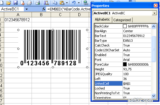 Barcode ActiveX Control Screenshot 2