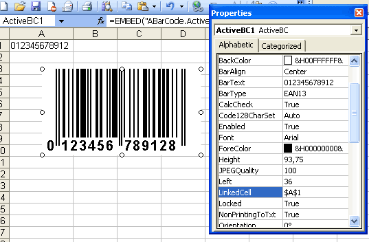 Barcode ActiveX Control Screenshot 1