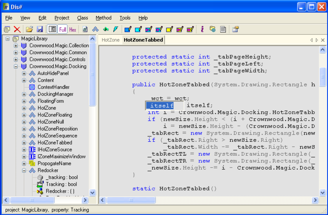 Dis# - .NET decompiler Screenshot 1