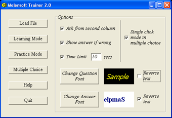 Melensoft Trainer Screenshot
