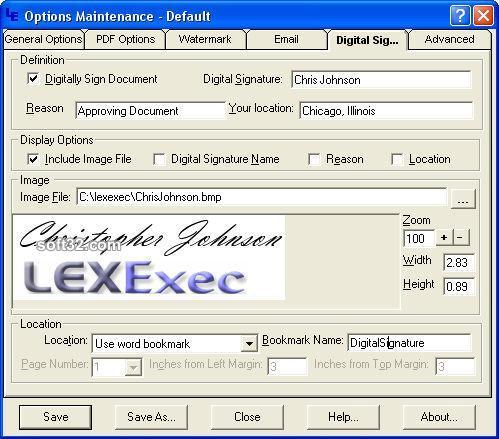 PDFExec For MS Word Screenshot