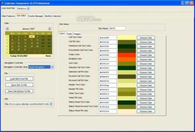 Calendar Component Professional Screenshot 3