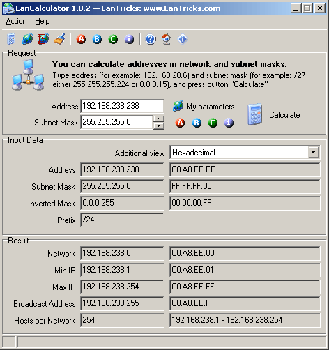 LanCalculator Screenshot