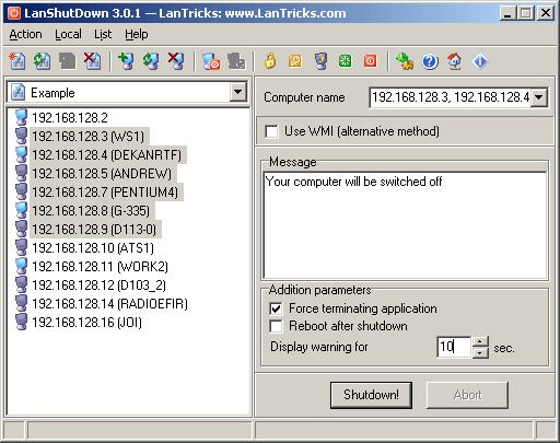 LanShutDown Screenshot