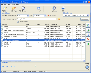 Direct Audio Converter and CD Ripper Screenshot 1