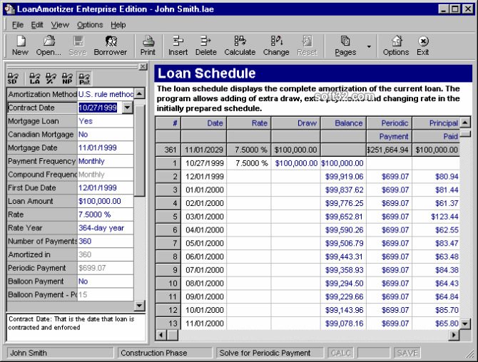 LoanAmortizer Enterprise Edition Screenshot