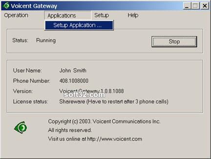 Voicent VoiceXML Gateway Screenshot 2