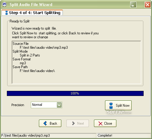 Absolute MP3 Splitter & Converter Screenshot 3