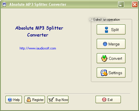 Absolute MP3 Splitter & Converter Screenshot