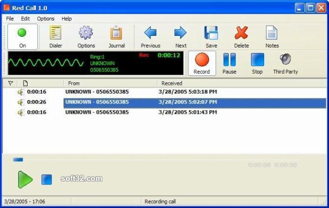 Red Call Recorder Screenshot