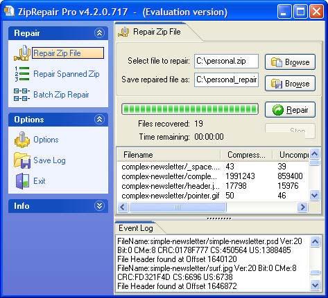 Zip Repair Pro Screenshot