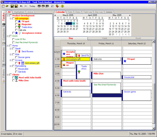 Task Track Analyst Screenshot 1