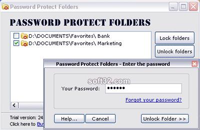 Password Protect Folders Screenshot 2