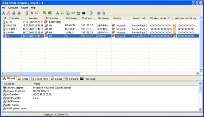 Network Inventory Expert Screenshot