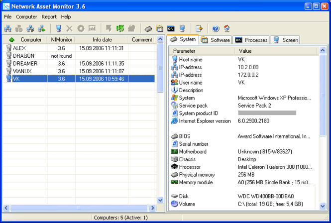 Network Asset Monitor Screenshot 1