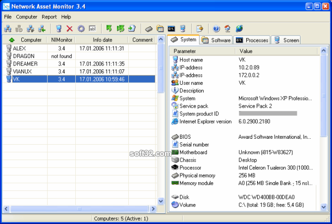 Network Asset Monitor Screenshot 2