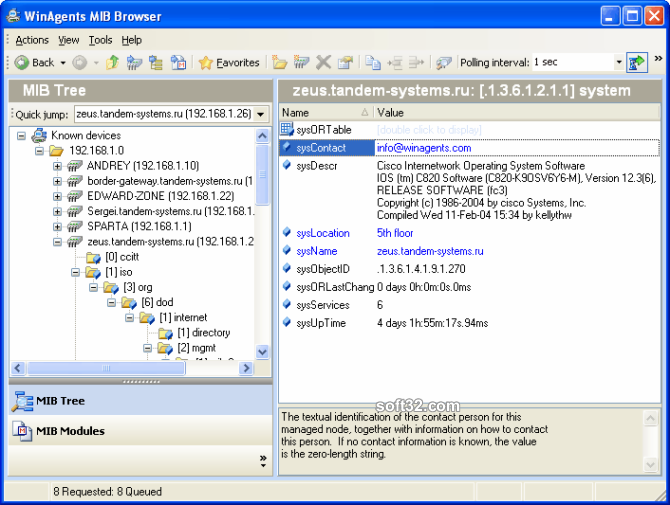 WinAgents MIB Browser Screenshot 3