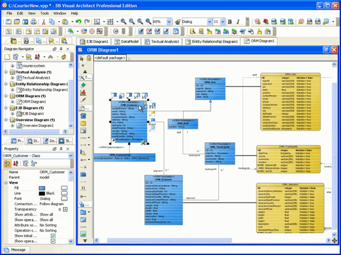 DB Visual ARCHITECT for Windows Screenshot