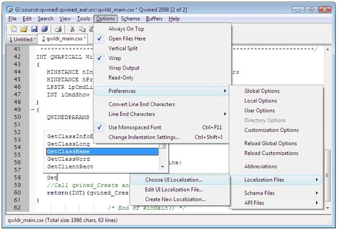 Qwined Multilingual Technical Editor Screenshot 2