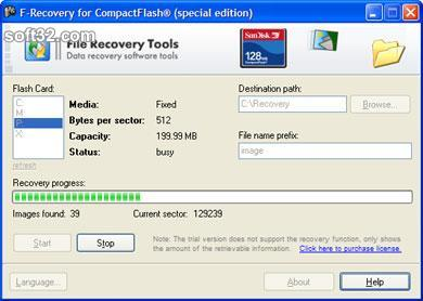 F-Recovery for CompactFlash Screenshot 3