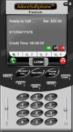 Adore Softphone Screenshot