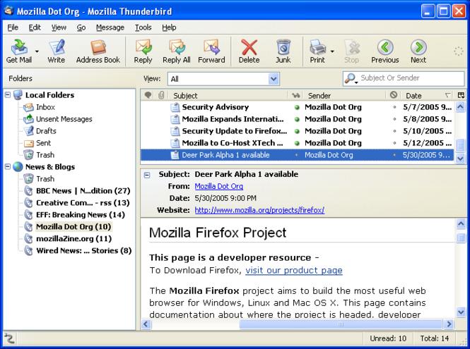 Mozilla Thunderbird Screenshot 4