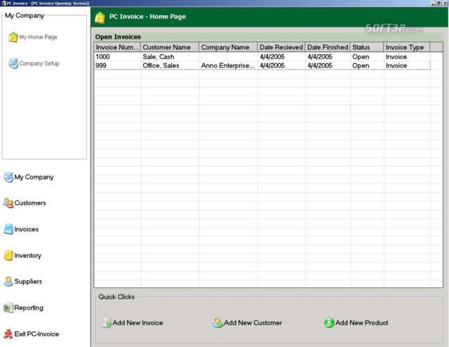 PC Invoice Pro Edition Screenshot 2